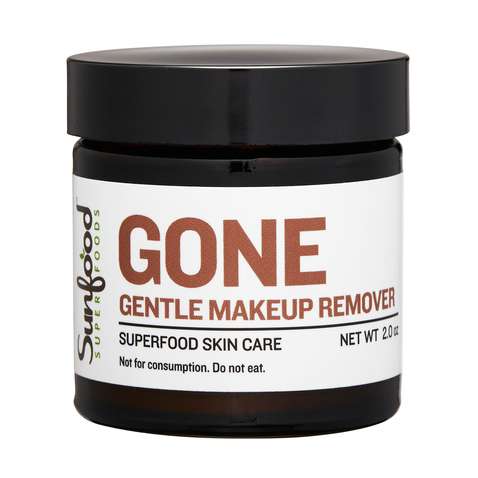 Sunfood GONE Gentle Makeup Remover 2oz,