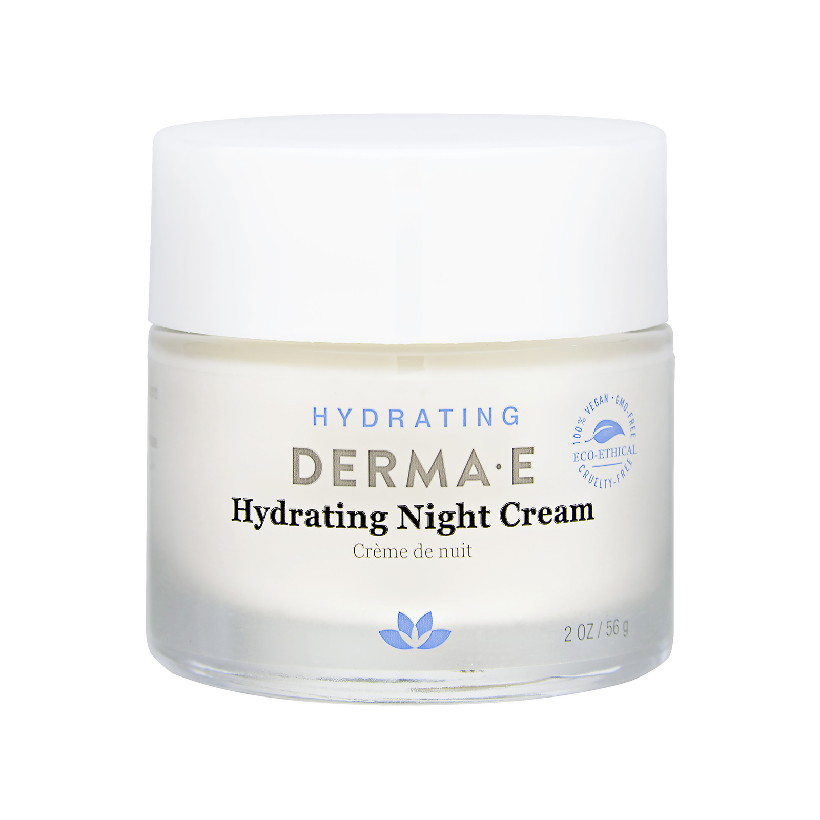 Derma e Hydrating Night Crème With Hyaluronic Acid (For Dry and Normal Skin) 2oz, 56g