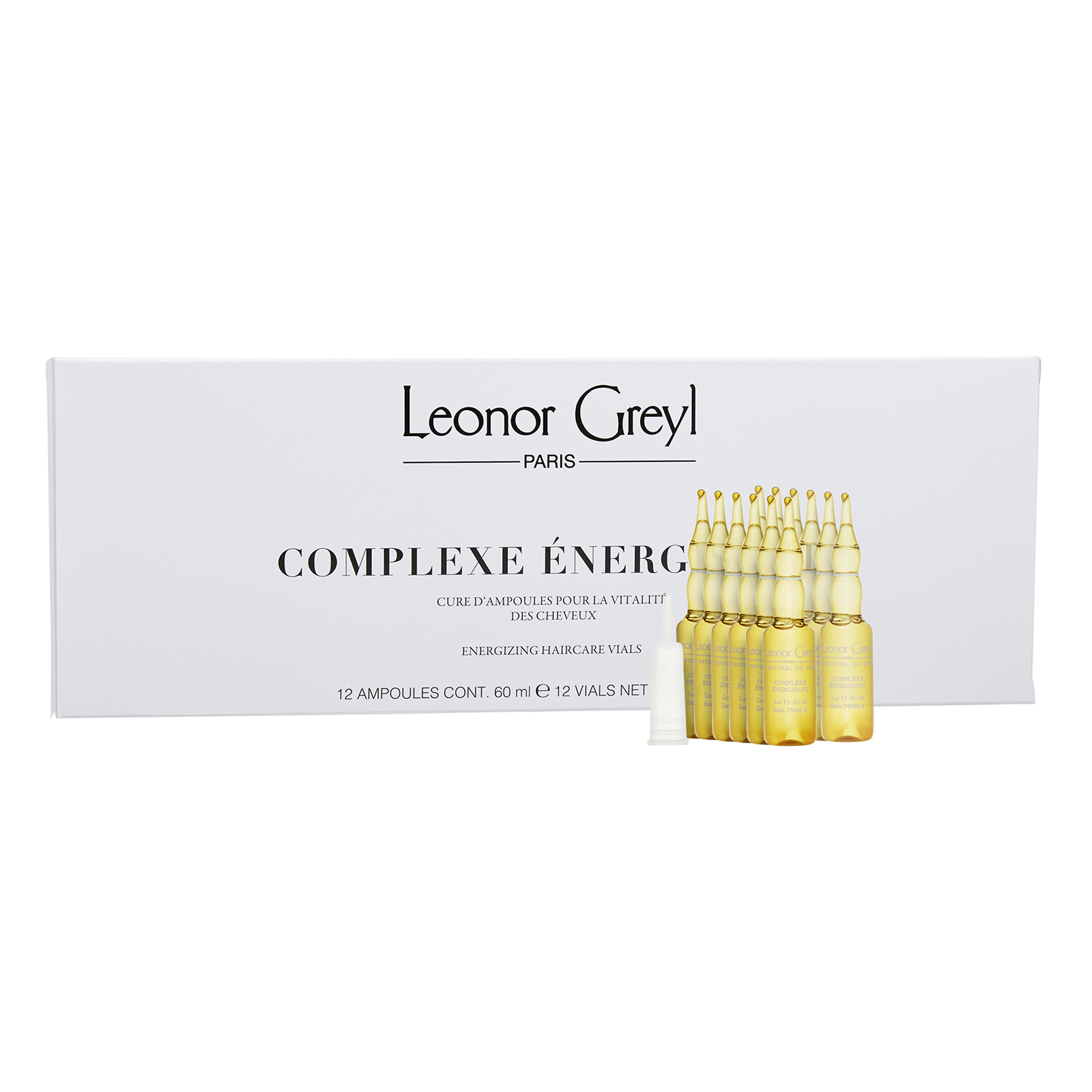 Leonor Greyl  Complexe Energisant Energizing Haircare Vials  0.6 ml x 12 Vials,