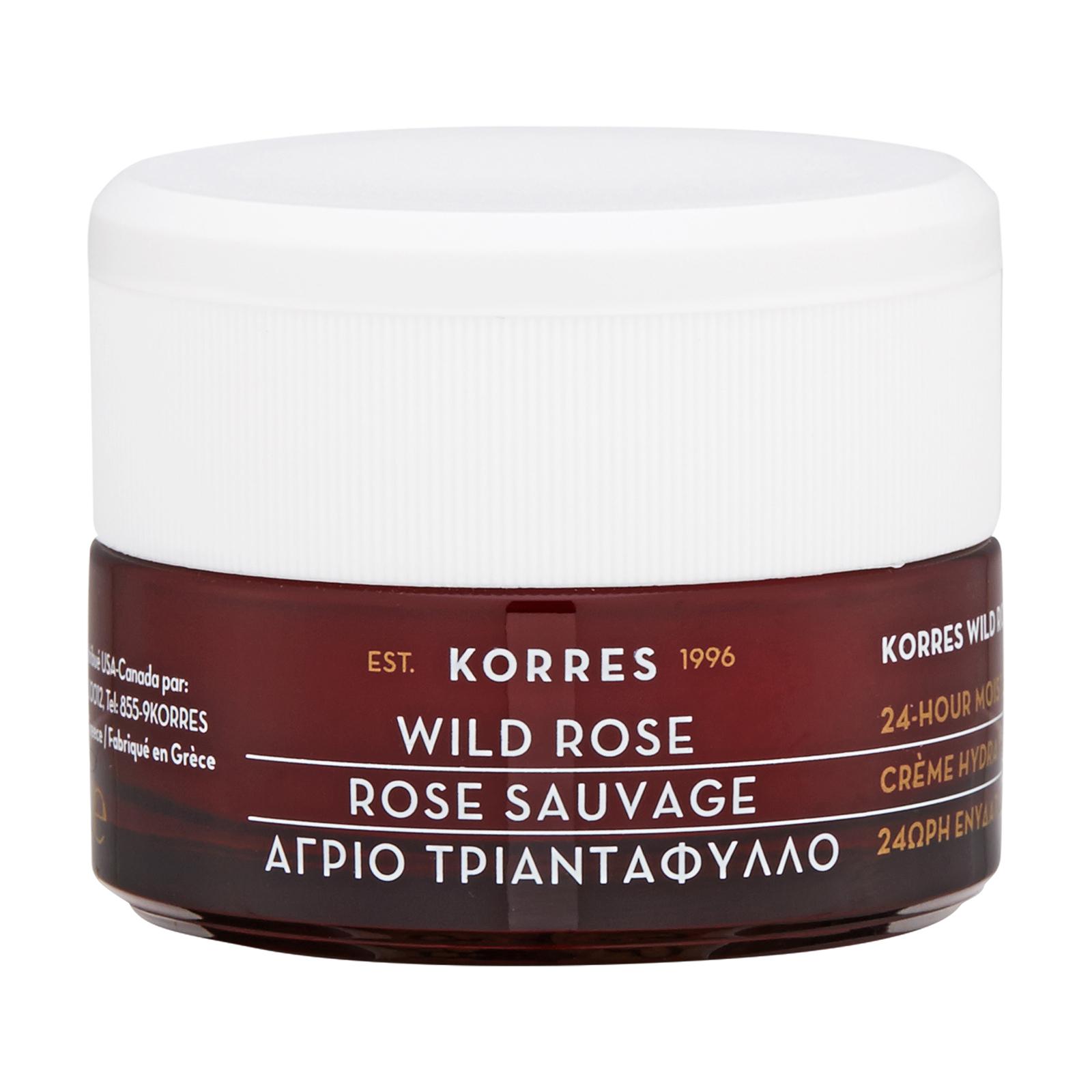 Korres Wild Rose Wild Rose 24-Hours Moisturising & Brightening Cream (For Normal or Dry Skin Types) 1.35oz, 40ml