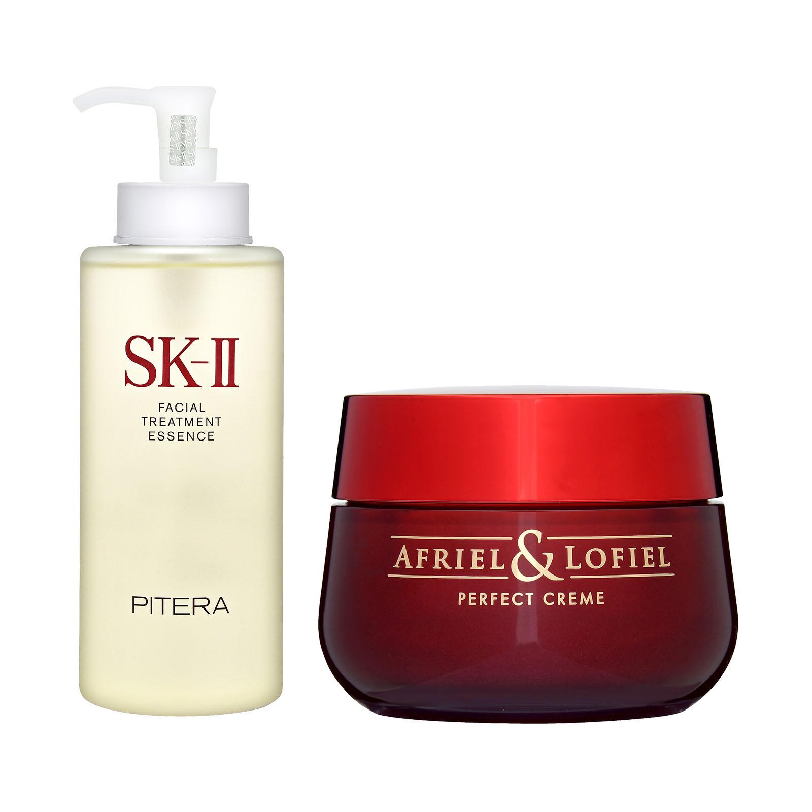 Details about SET SK-II Facial Treatment Essence 330ml + Afriel & Lofiel Perfect Cream 50g